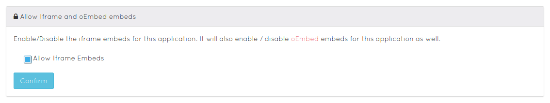 Iframe Embeds disabled
