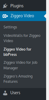 Ziggeo Video for bbPress - settings