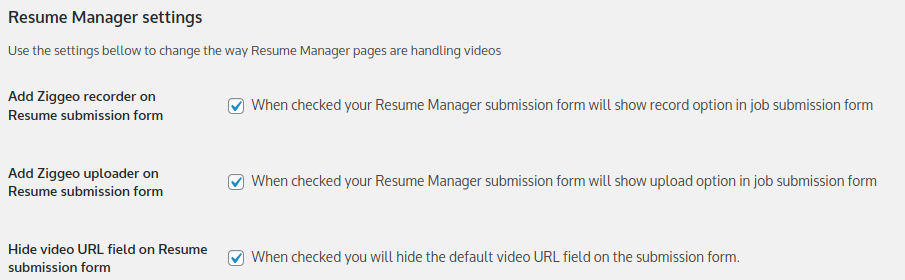 Job Manager integration settings