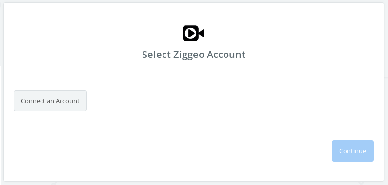 Choose your Ziggeo account