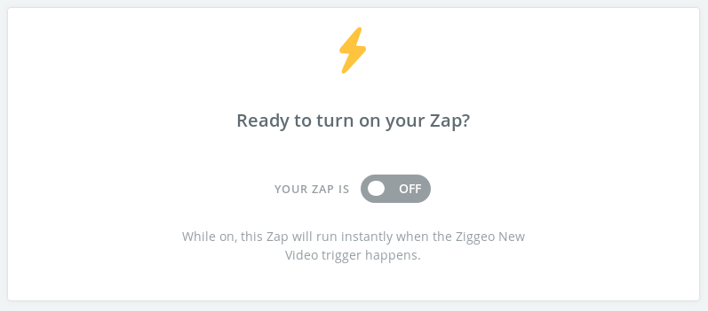 Zap completed