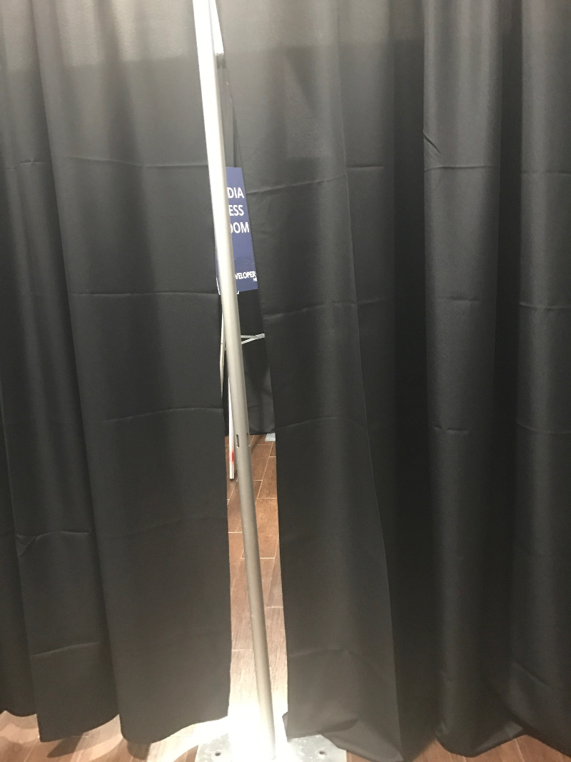 What's behind the curtain? It's the VIP Area for Speakers. Sorry, can't tell more. Sworn to secrecy.