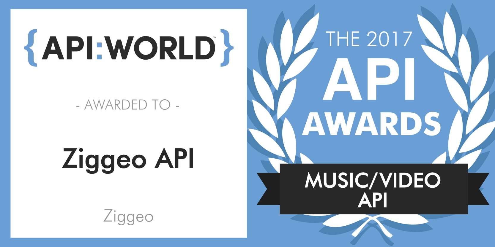 Ziggeo won the API:World 2017 Award for its API for Video Recording and Playback.